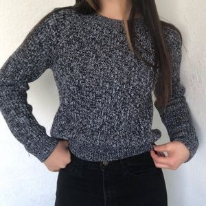 Navy blue wool sweater from H&M